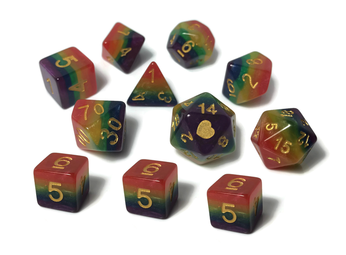Heartbeat Rainbow dice