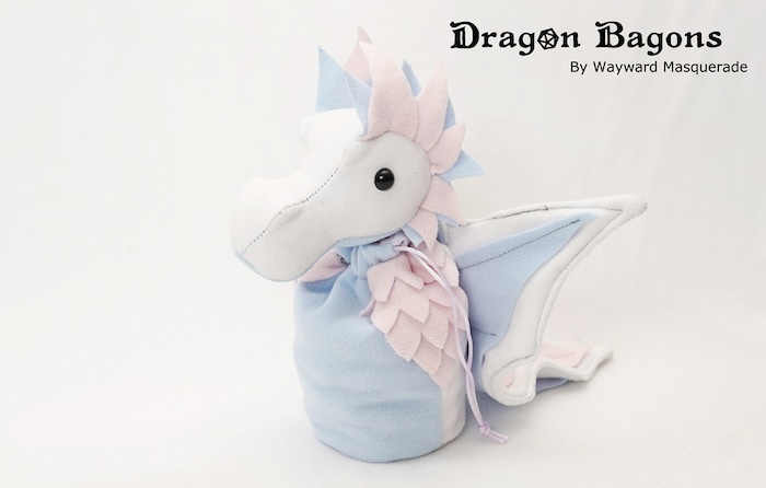 Soft Trans Pride Dragon Bagon