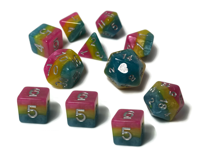 Pan Pride dice by Heartbeat