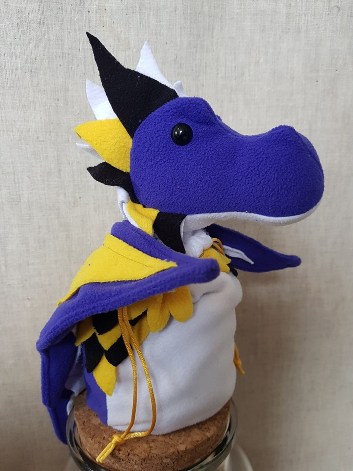 Non Binary Pride Dragon Bagon (hoping to get better photos soon)