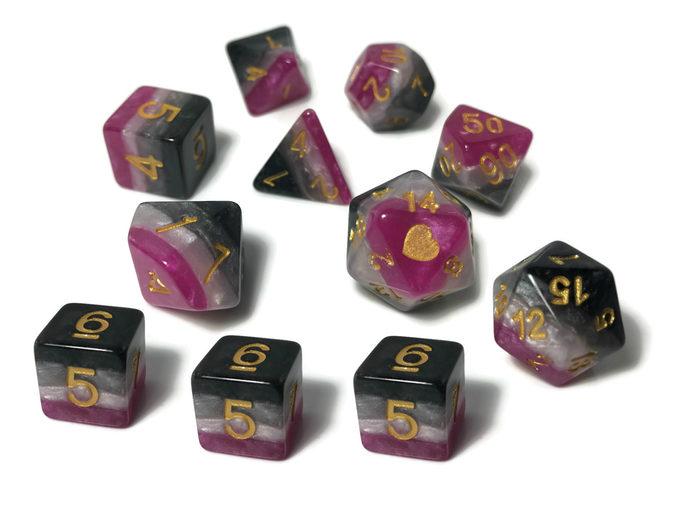 Ace  Pride dice by Heartbeat