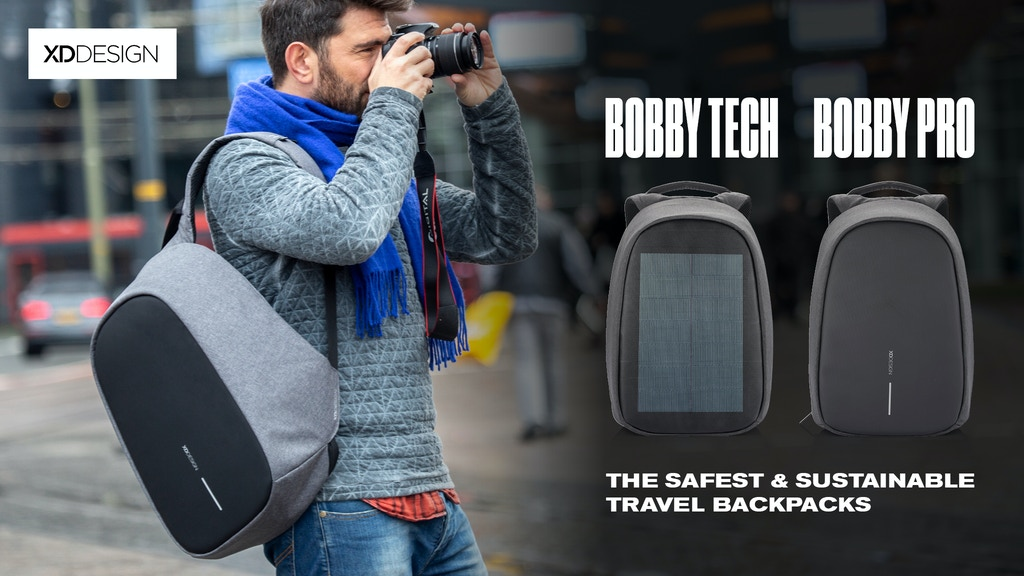 The Bobby Pro & Bobby Tech Anti-Theft Backpacks by XD Design