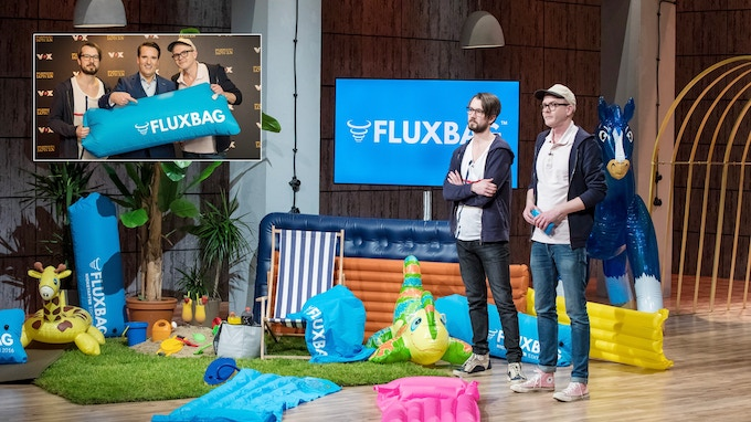 "March 2017: Filming DHDL/German ""Shark Tank"" with products from our first Kickstarter campaign"
