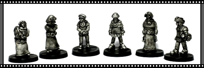 The six miniatures in the Galactic Civilians set 1