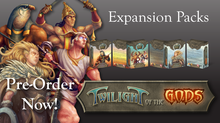 Expand your power with three new Expansion Packs for Twilight of the Gods!