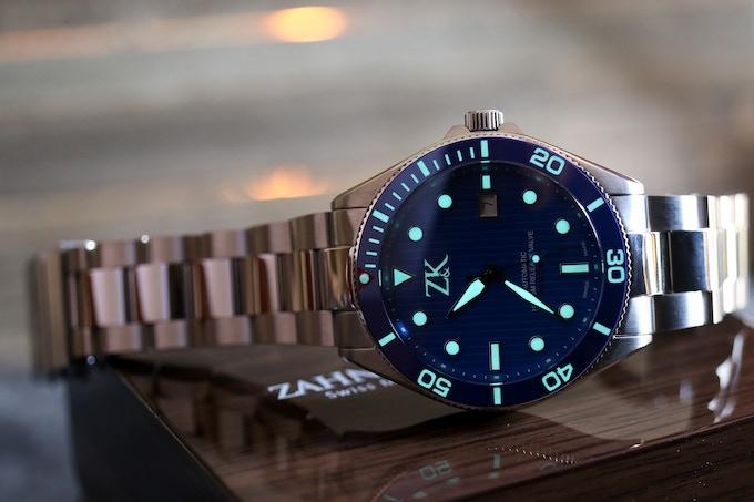 Superluminova BGW9 (blue) ilumination - Credit to watchreport.com