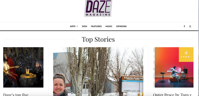 Part of the Dazemag.ca home page