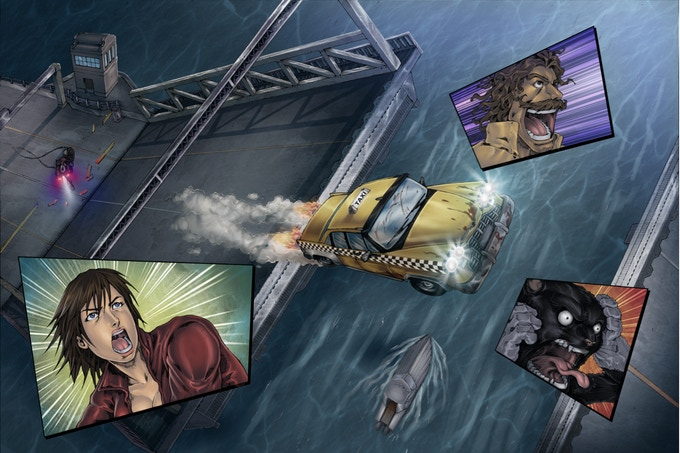 Who needs a seaplane when you have a cosmic taxicab?