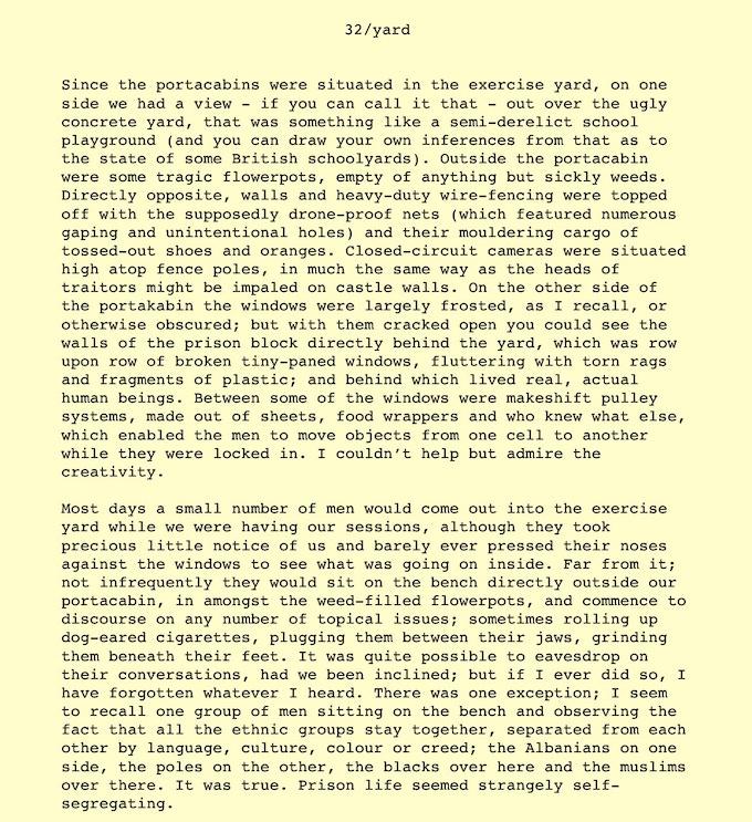 An excerpt from the draft manuscript
