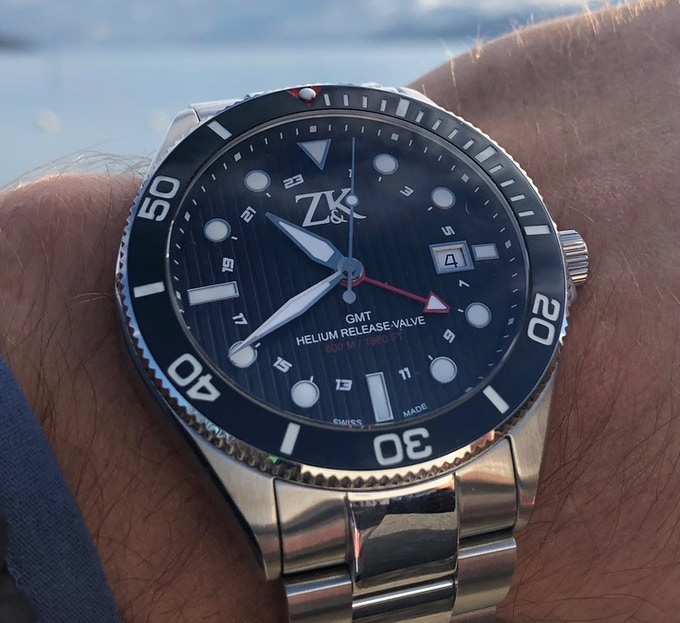 The GMT is your companion around the world - 44mm Stainless Steel or Titanium case, 2nd Time Zone Indication, Ceramic Bezel, 60 ATM, Swiss Made Automatic