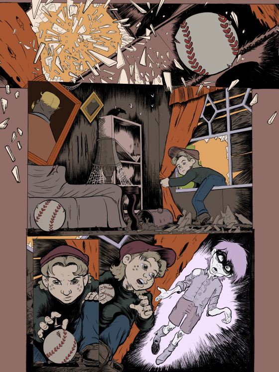 Art by JASON TOCEWICZ and AARON BER for HAUNTED MEMORIES (NOT FINAL COLORS)