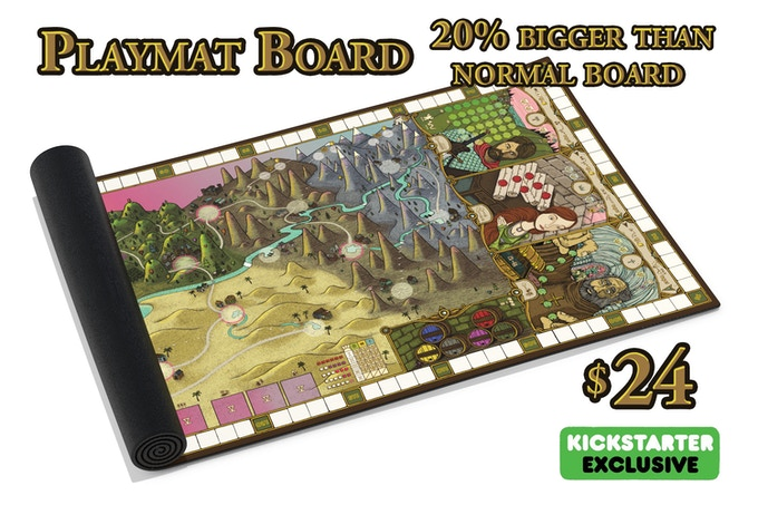 Add this epic playmat board to your order after the campaign!