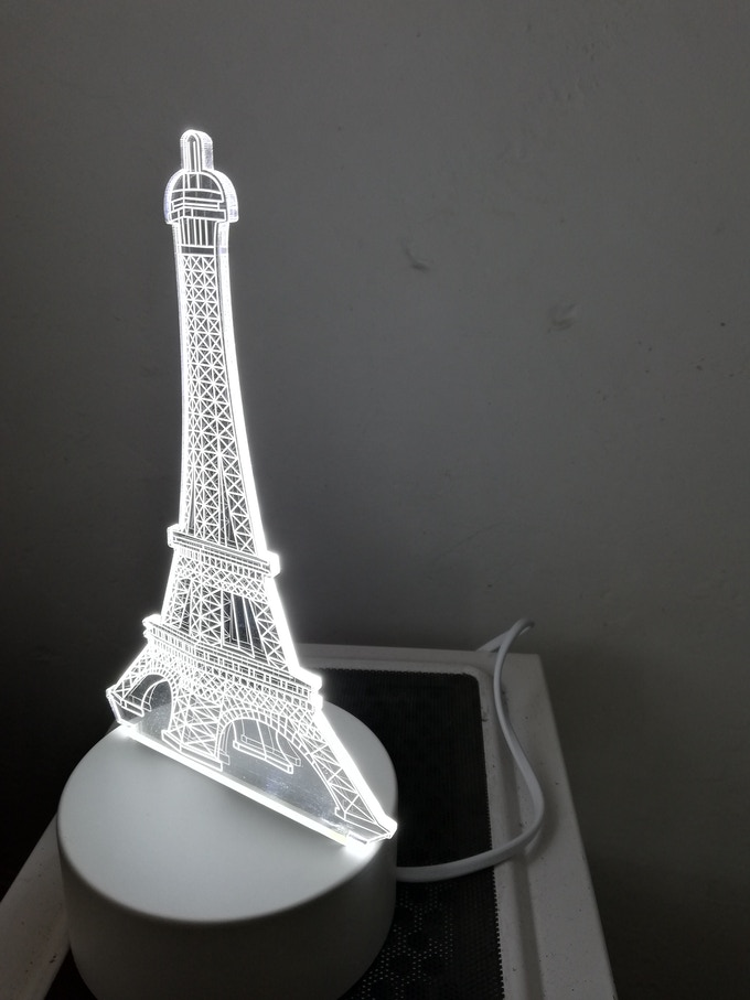 A acrylic art lamp