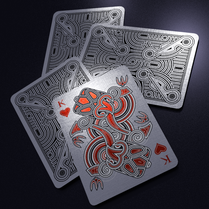 Black Tiki ULTRA with red and silver foil