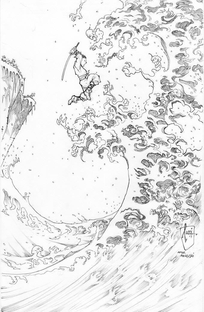 Hoku-Zombie Original Cover Art by Billy Tucci