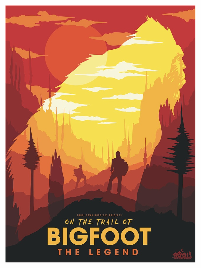 On the Trail of Bigfoot (poster by Matt Peppler)