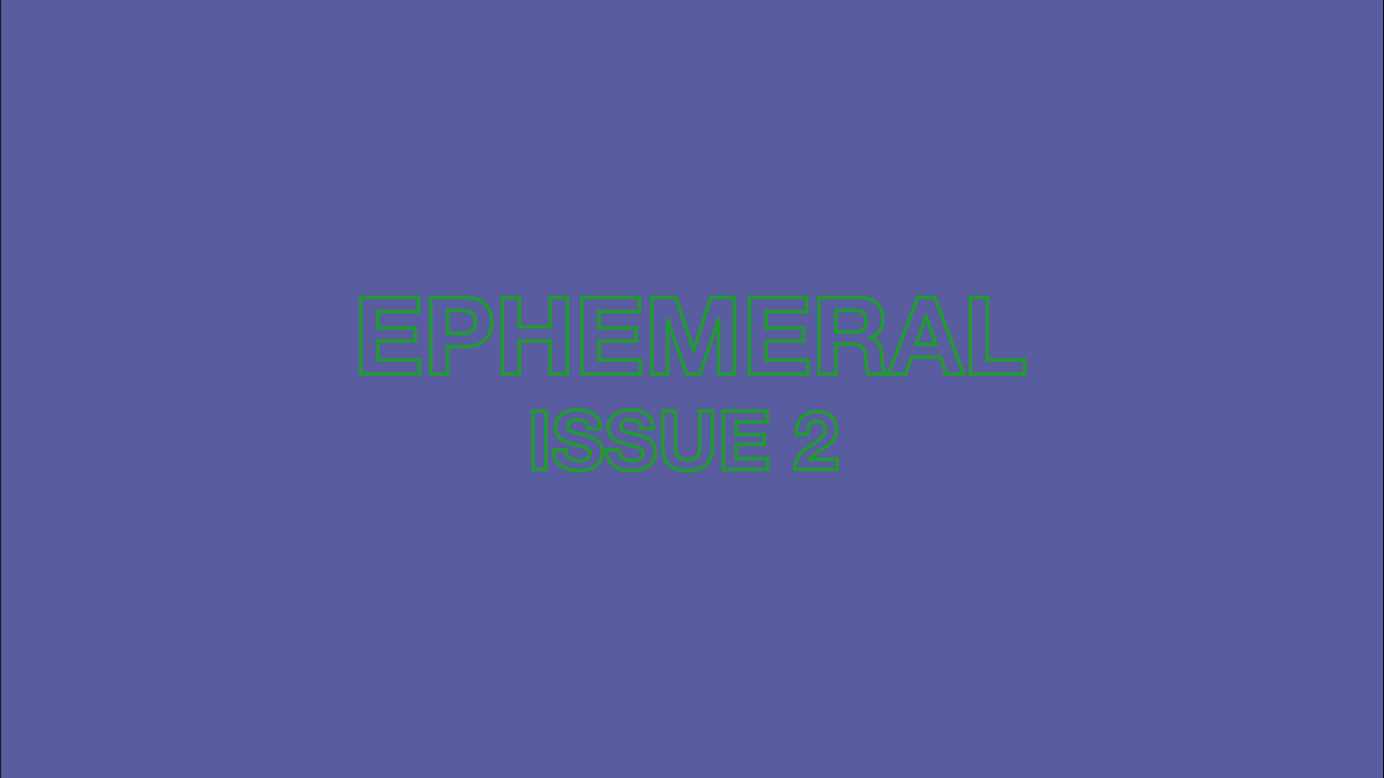 A Norwich-Based, Creative-led, printed publication that explores subjects closely associated to ephemerality.