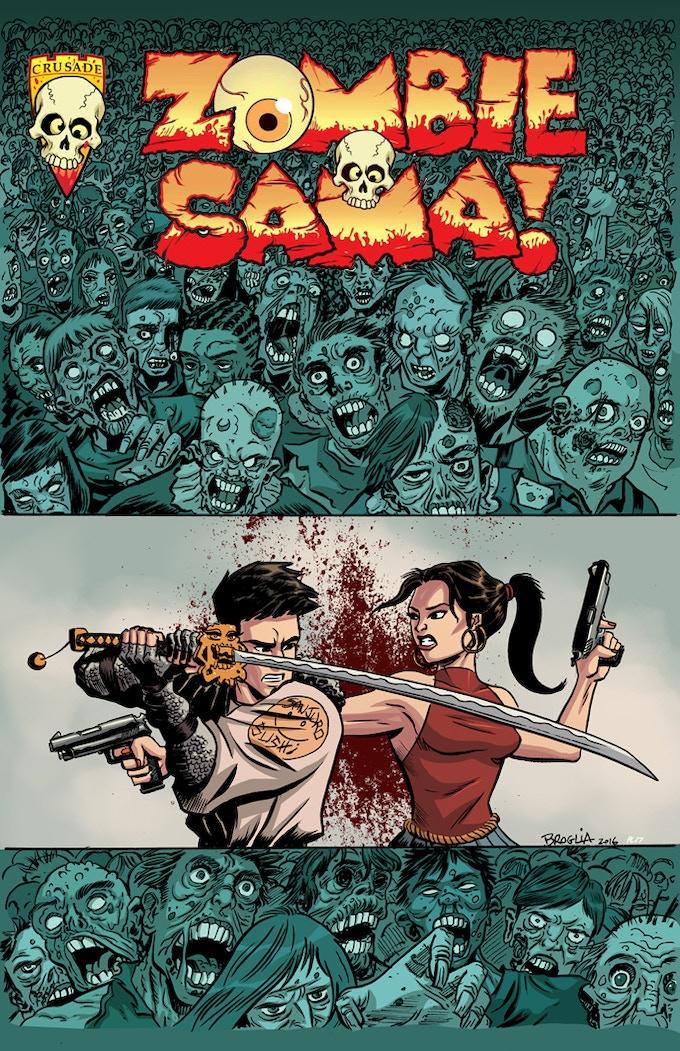 Zombie-Horde Kickstarter Cover by John Broglia and Paul Little