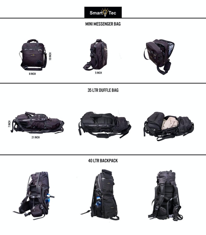 1 BAG. 3 POSSIBILITIES. Endless Features.(TRANSFORMER EVERYDAY BACKPACK)
