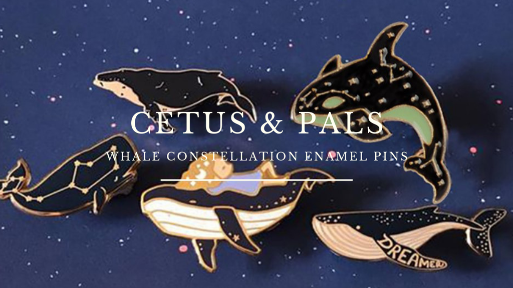 Cetus- Whale Constellation Enamel Pins