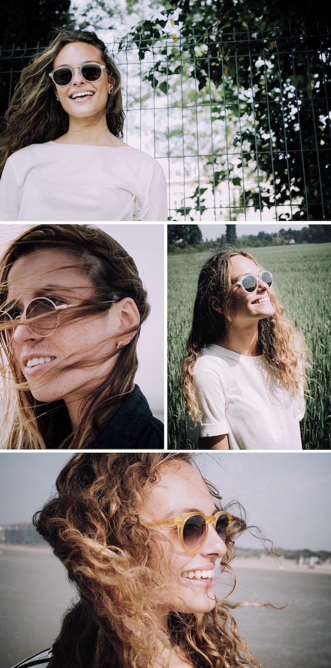Glasses Model: Saint Germain / Color: Transparent Matte - Glasses: Steve Smart Metal / Color: Matte Pink Gold - Glasses Model: Huassmann Classic / Color: Matte Transparent Yellow