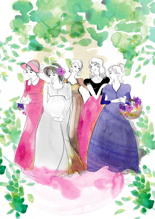 Mekel's Pride and Prejudice illustration