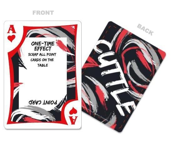 The Ace, an attack one time effect that requires sacrifice and careful timing to play.  Also can be used as a point card to win you the game!