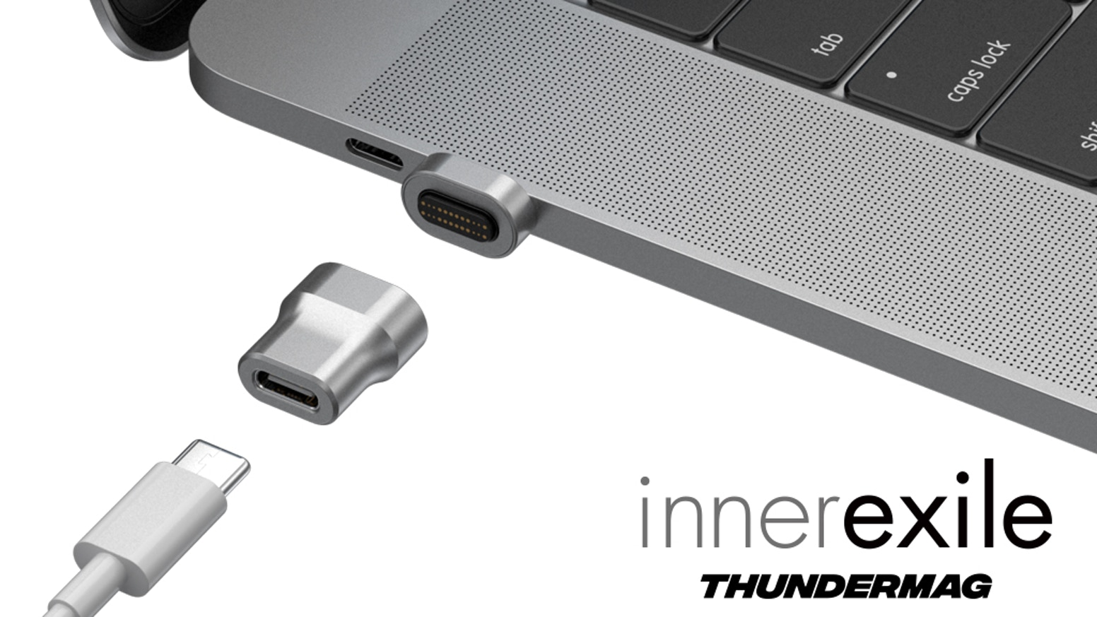 ThunderMag the sleekest & the world's fastest magnetic adaptor, a Thunderbolt3 40Gb/s companion reinvented