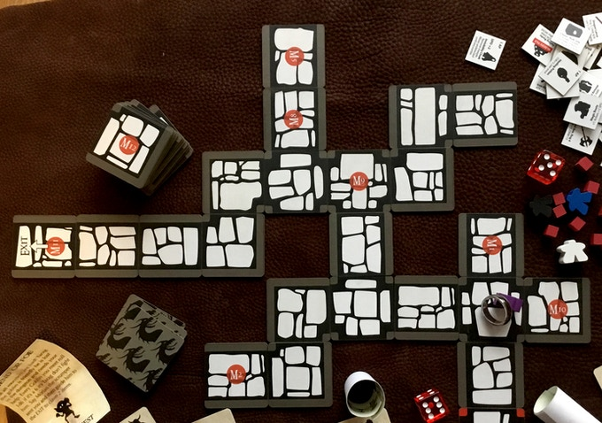 Build your dungeon as you play, find the ring and escape!