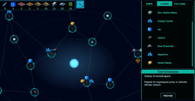Explore a new procedurally generated galaxy each playthrough.