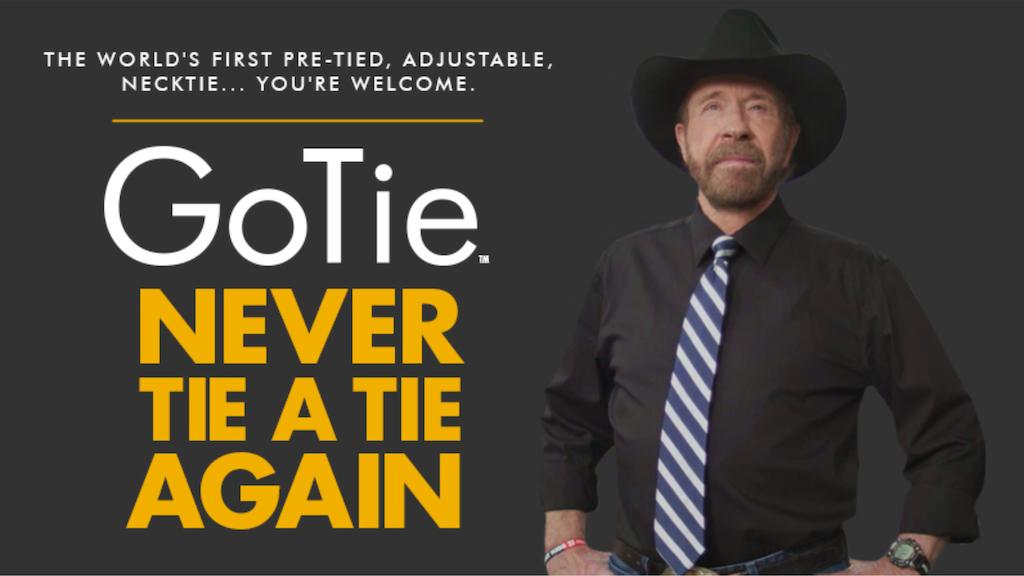 GoTie - Never Tie a Tie Again, Chuck Norris Style
