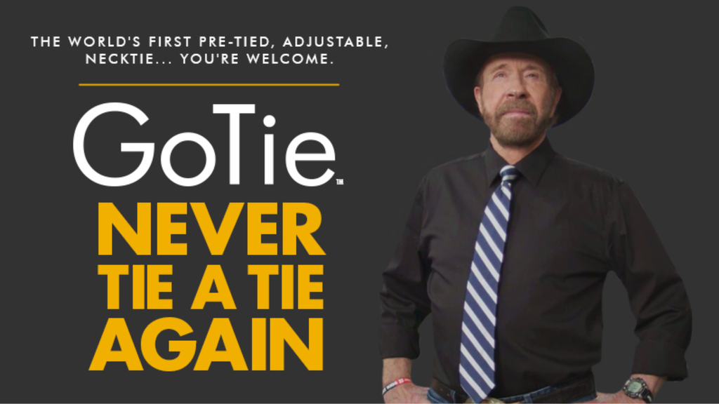 GoTie - Never Tie a Tie Again, Chuck Norris Style project video thumbnail