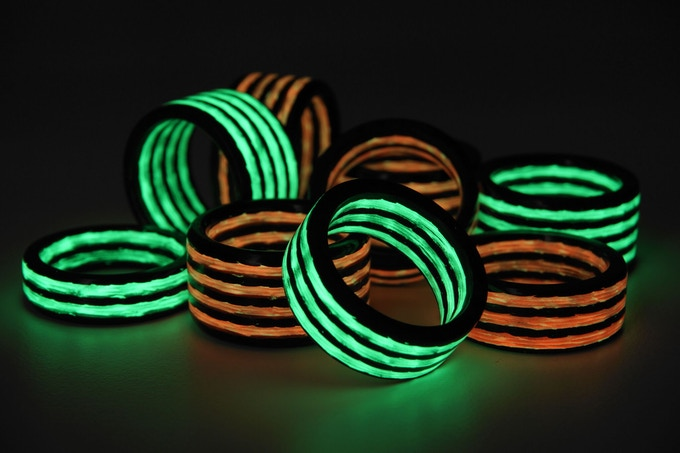 Aurora Carbon Fiber Glowing