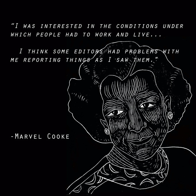 Marvel Cooke was the first Black woman journalist to work in a mainstream white newsroom, and organized one of the first journalists' labor union strikes ever. She'll be featured in The View From Somewhere.
