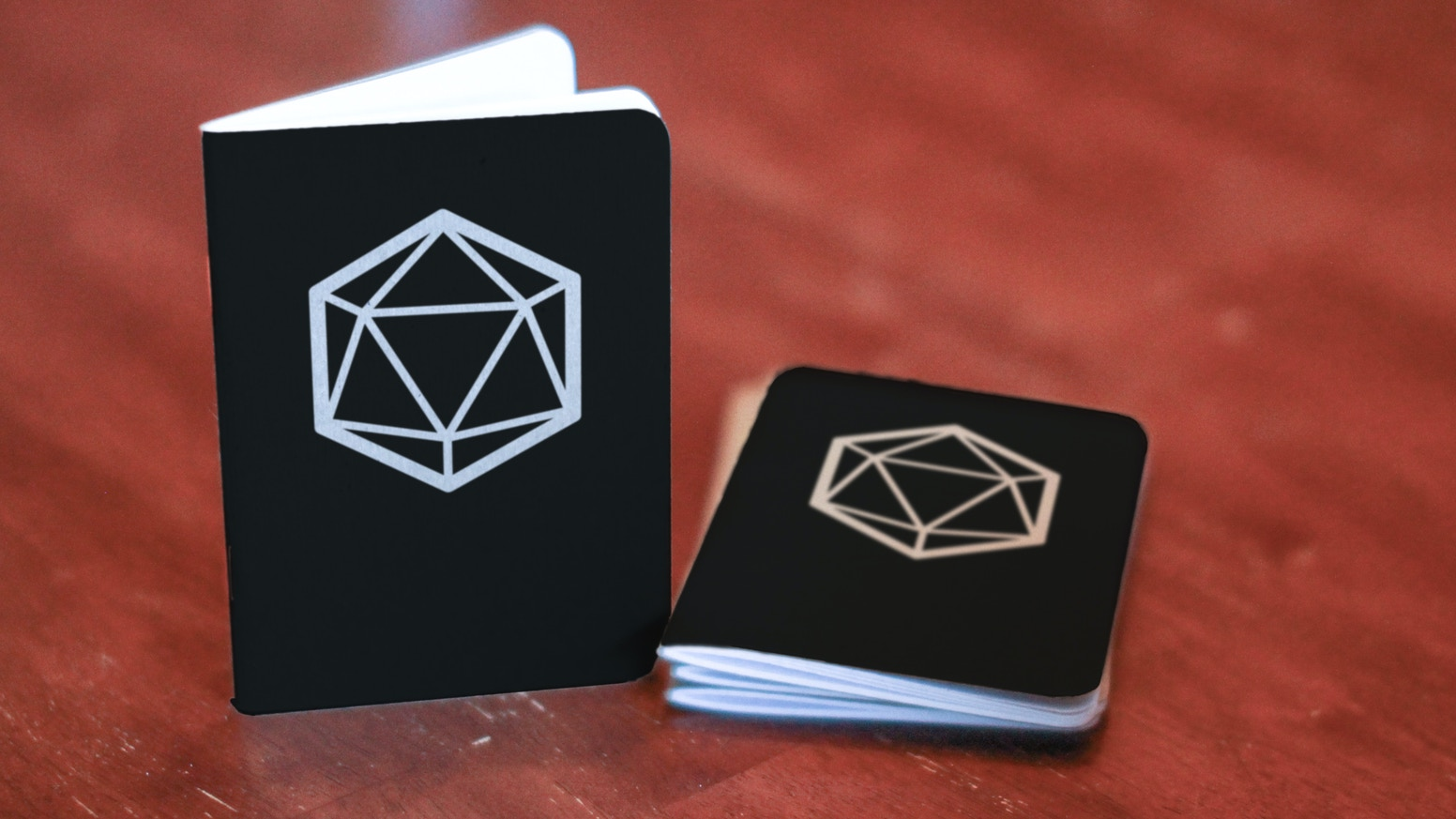 A notebook designed to plan and document your tabletop games works with any tabletop RPG game system.