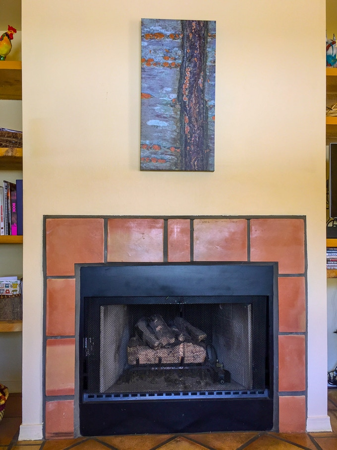"""10"""" x 20"""" gallery wrapped canvas print over my fireplace"""
