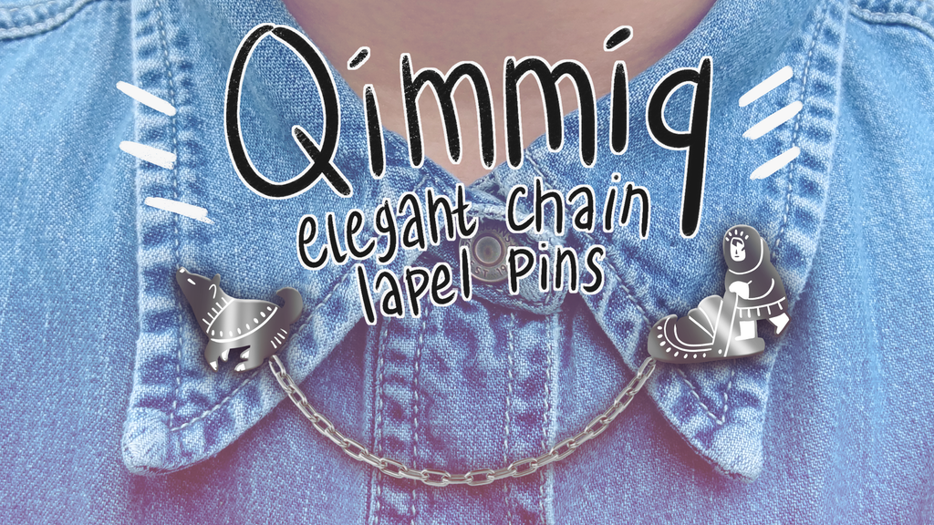 QIMMIQ! Dog Sled Chain Lapel Pins