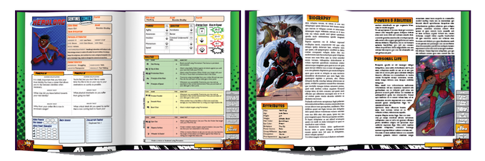 Example Page Spread Renders