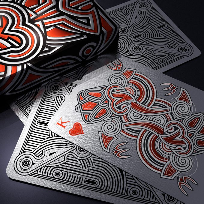 Black Tiki ULTRA with silver and red foil