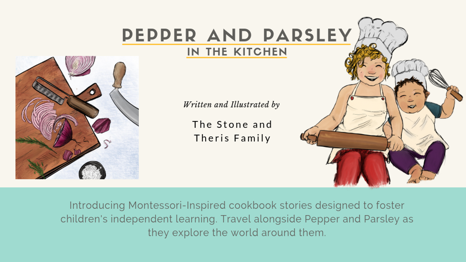 The first ever Montessori-inspired children's story cookbook