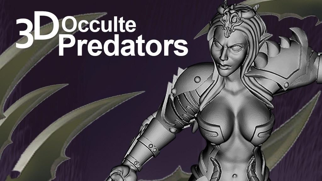 Project image for Predators Occulte 3D miniatures for your printer