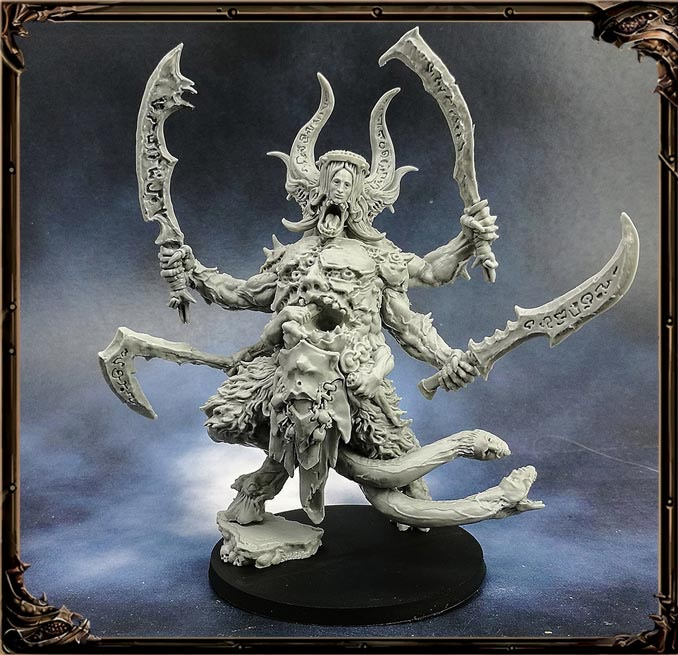A resin miniature Demon Lord.  Hardly a miniature!