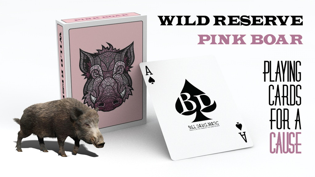 WILD RESERVE: PINK BOAR Playing Cards project video thumbnail