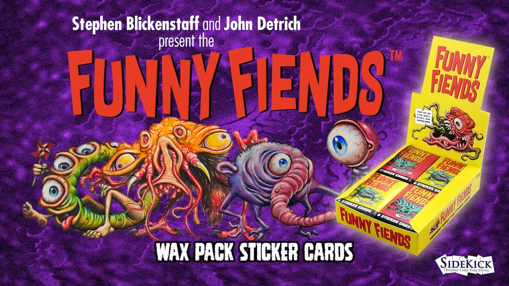 THE FUNNY FIENDS Wax Pack Sticker Cards project video thumbnail