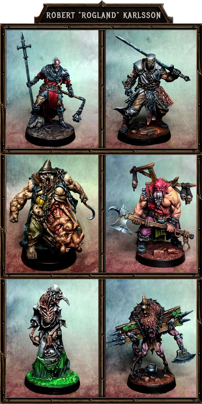 "Resin miniatures painted by Robert ""Rogland"" Karlsson.  Game miniatures are supplied unpainted."