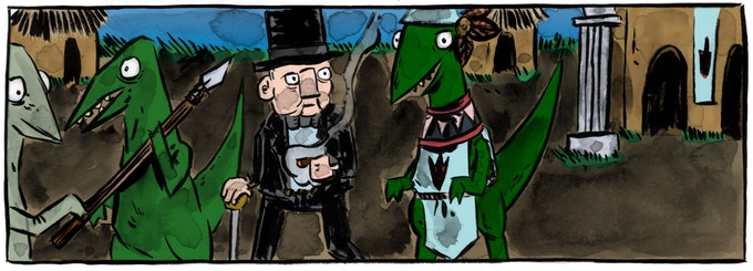 From The Unauthorized Biography of Winston Churchill: A Documentary, Art by Claire Connelly and Cardinal Rae