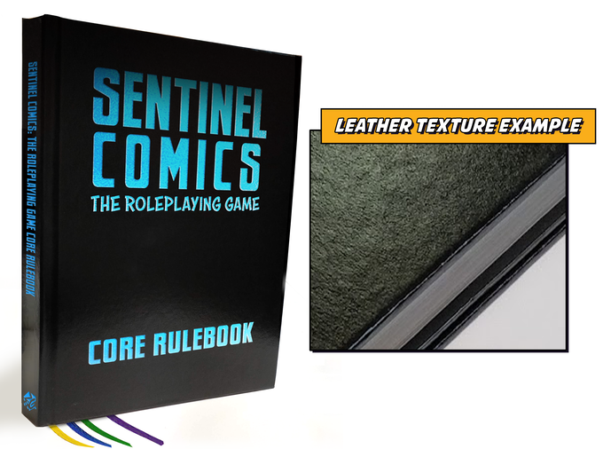 Mock Up of the Foil and Leather-bound special edition rulebook