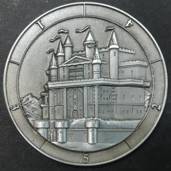 d5 Castle - antique silver plated