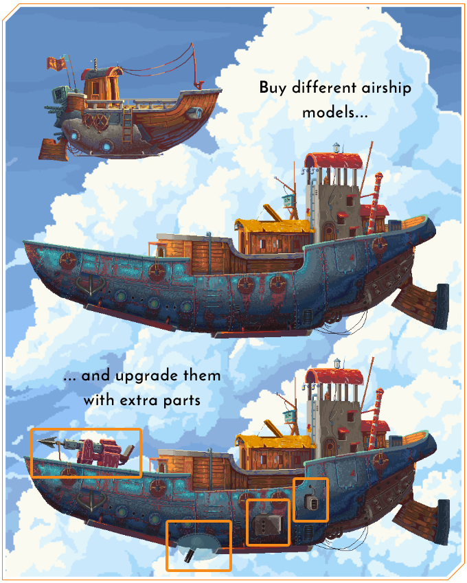 Optimize your airships for battle