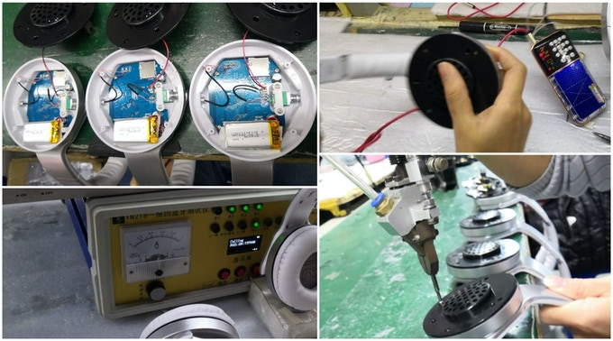 Product testing and assembling line